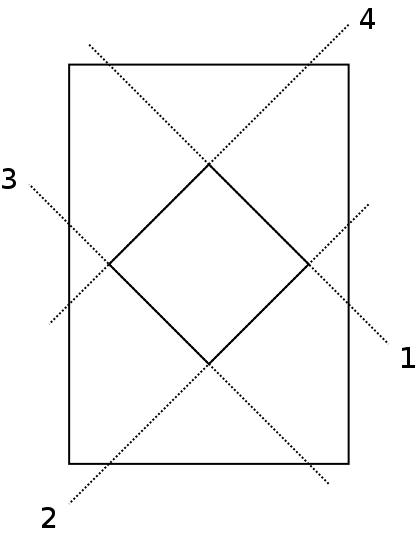 Diagram 1. Folding instructions