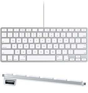 The Apple wired mini keyboard