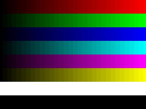 Effet de la résoltuion de couleur moindre (effet exagéré)