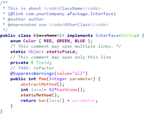 A Proposed Color Scheme for JAVA