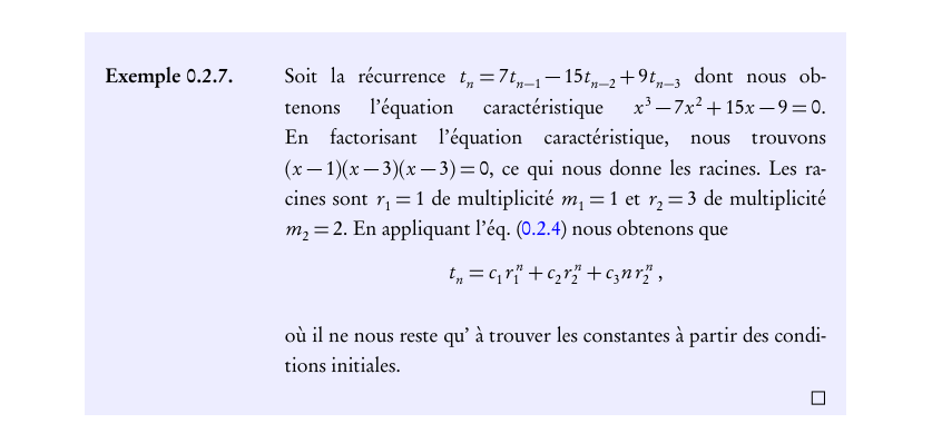 A (simple) LaTeX Example Environment